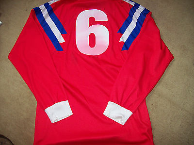 1991 Luxembourg Match worn Home L/s Adidas Football Shirt Top vs Germany 1991 Euros