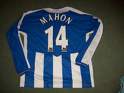 2005 2006 Wigan Athletic Match Worn Mahon #14 L/s Football Shirt Top