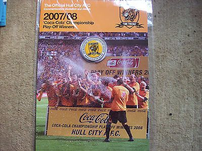 2007 2008 Hull City Promotion Medal & Album New not shirt Tigers