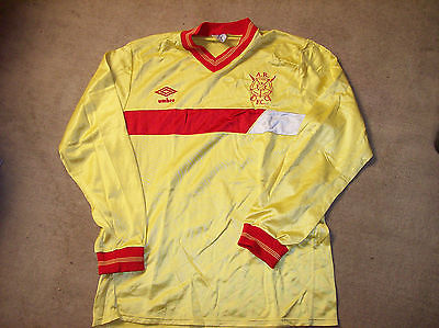 1985 1987 Albion Rovers Home L/s Football Shirt Adults Top Coatbridge Scotland