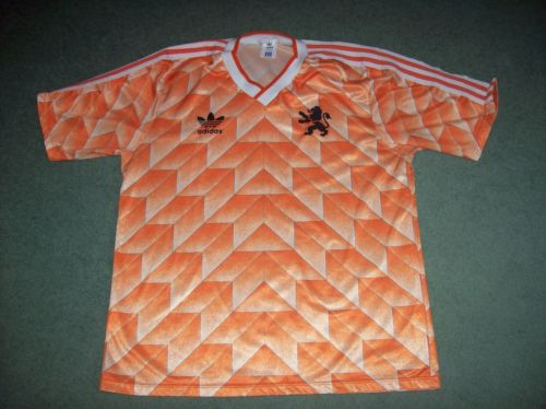 half off 87a76 85a64 1988 Holland Football Shirt Adults Large Netherlands Euro Champs Top Jersey