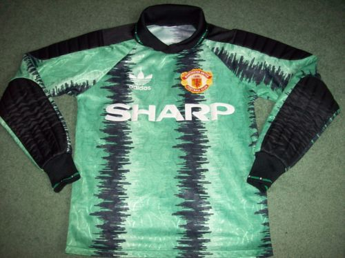cheap for discount 72c07 85908 1990 1992 Manchester United Large Boys Goalkeepers Football Shirt Age 13 14