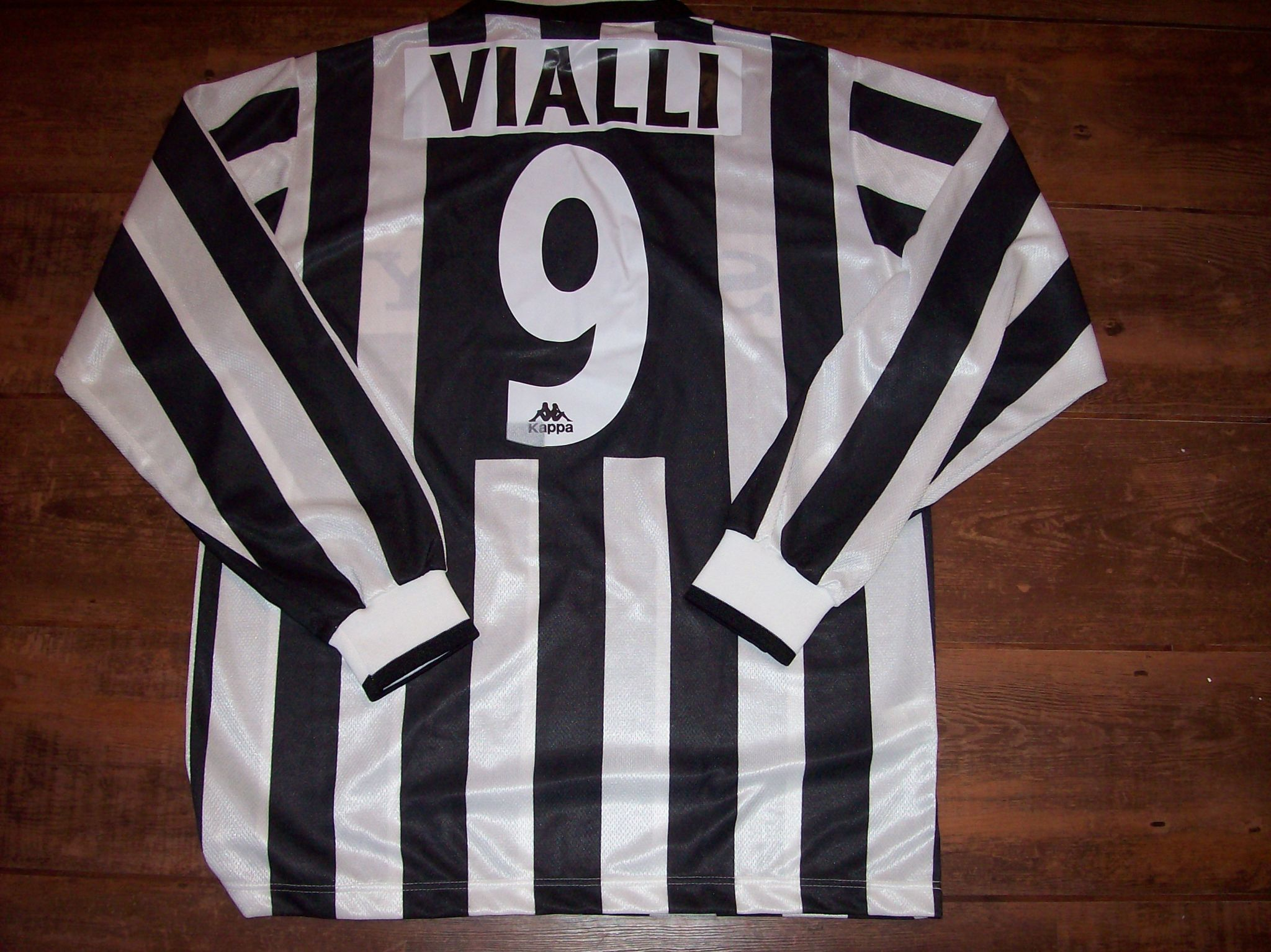 d46909139 1995 1996 Juventus Vialli BNWT New Home L s Football Shirt Adults Large