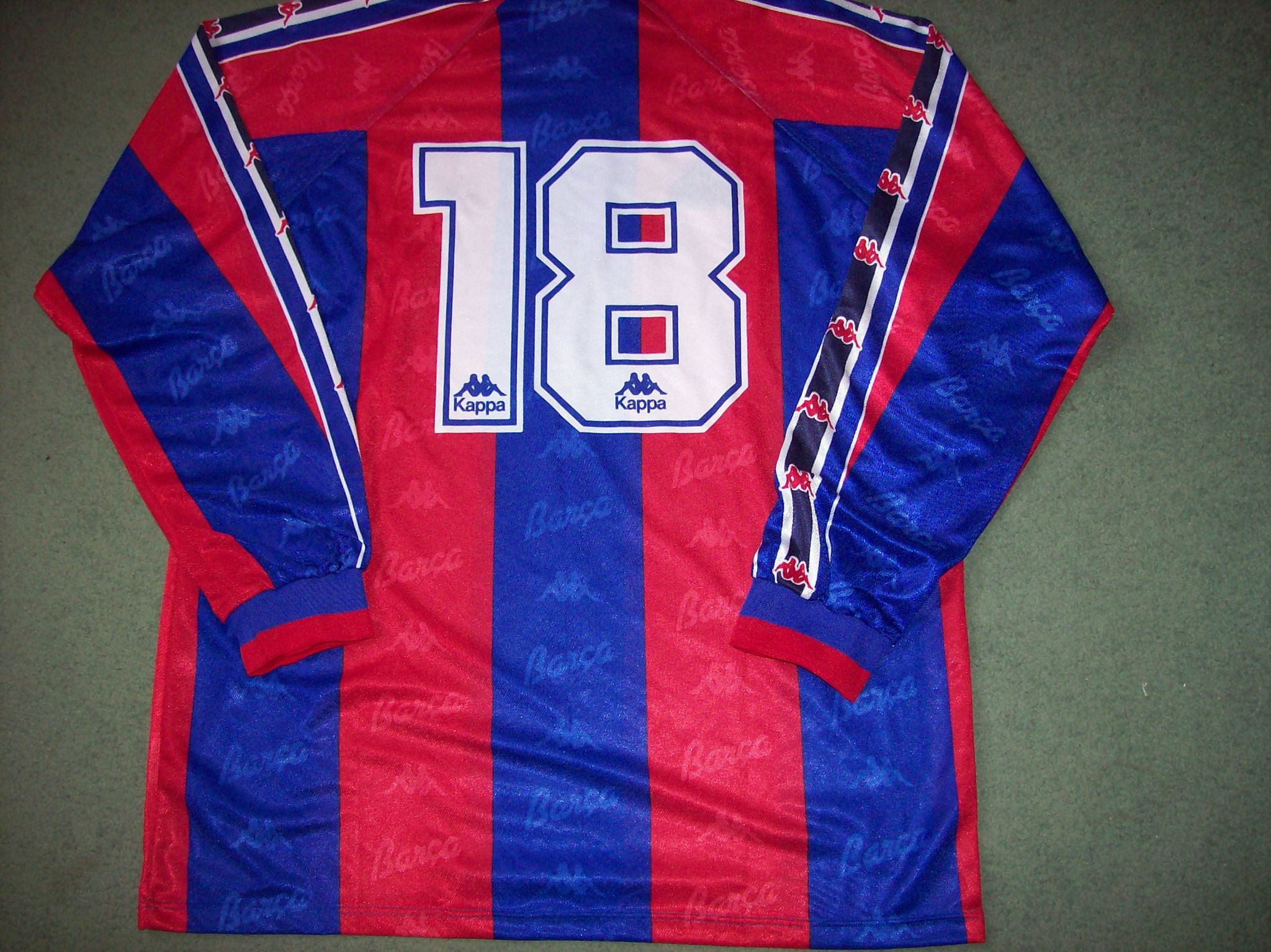 1995 1997 Barcelona Player Issue L s Home Football Shirt Adults Large  Camiseta 90b6f2473