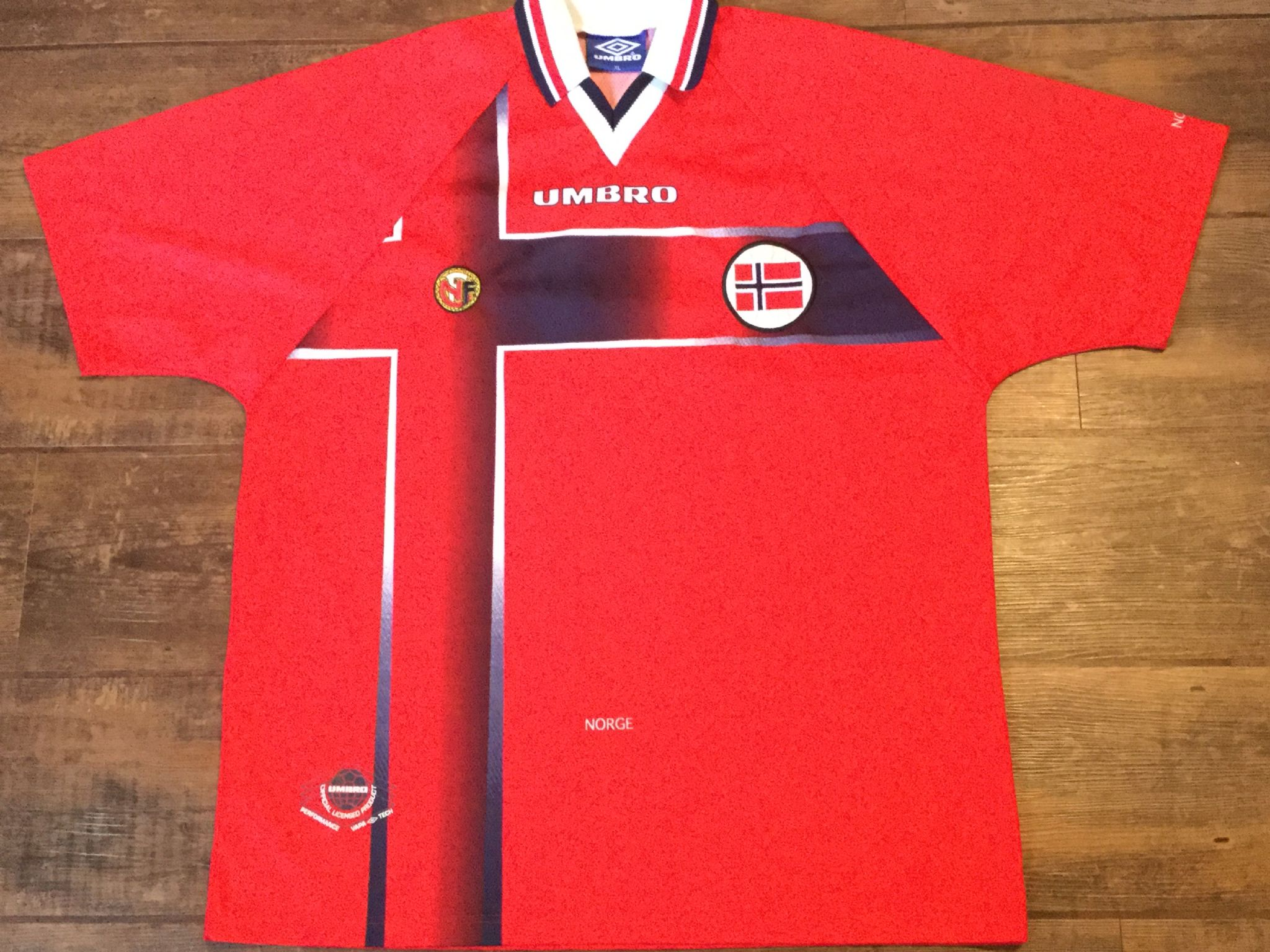 sneakers for cheap 695d5 1961f Global Classic Football Shirts | 1997 Norway Vintage Old ...