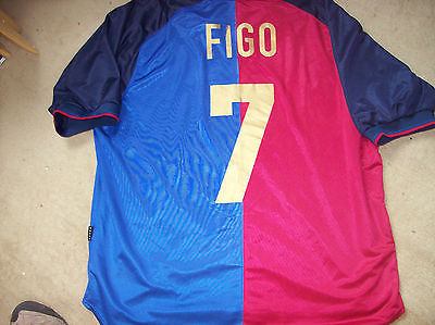size 40 cddf7 f4278 1999 2000 Barcelona Figo Centenary Home Football Shirt Top XXL Camiseta