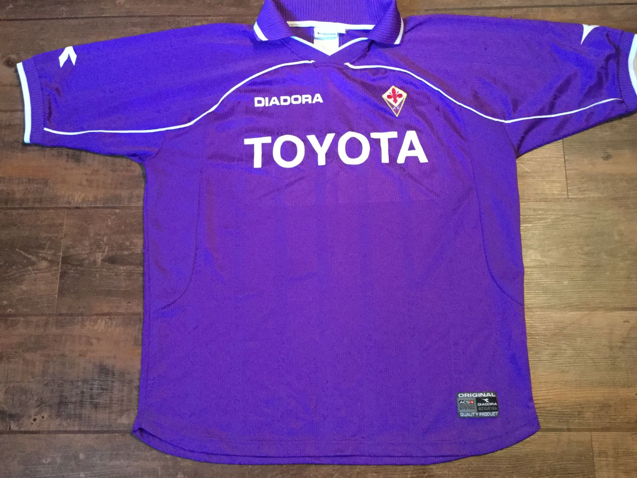 272d8025a 2000 2001 Fiorentina Home Football Shirt Adults XL
