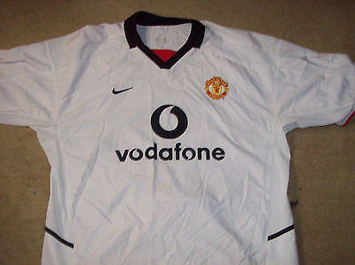 timeless design a7dcb 87eeb 2002 2003 Manchester United Away Football Shirt Top Jersey Adults XL Man  Utd U