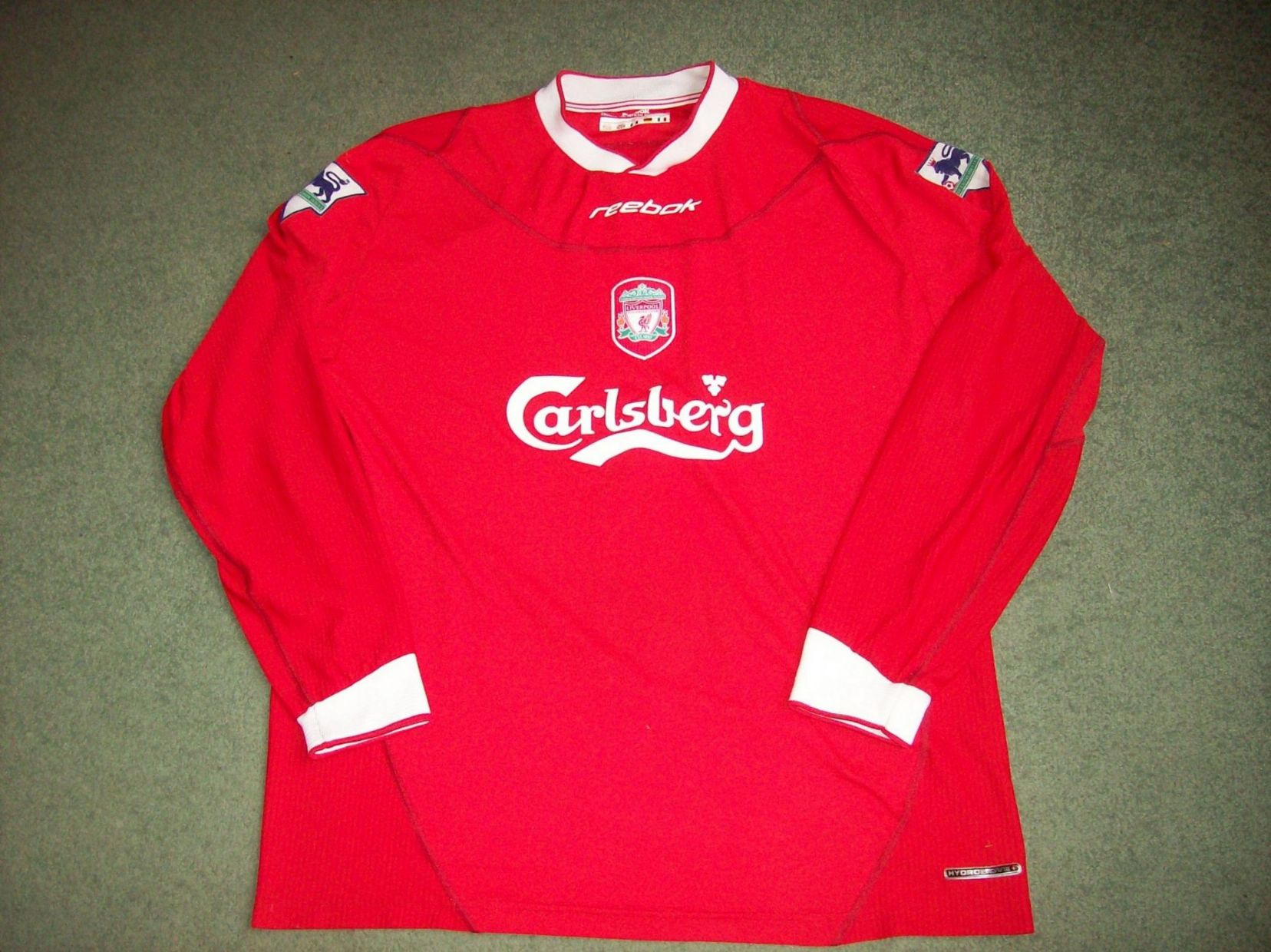 cheap for discount 0c0a4 9ccef 2002 2004 Liverpool L/s Adults Large Long sleeved Classic Football Shirt  Vintage Soccer Jersey
