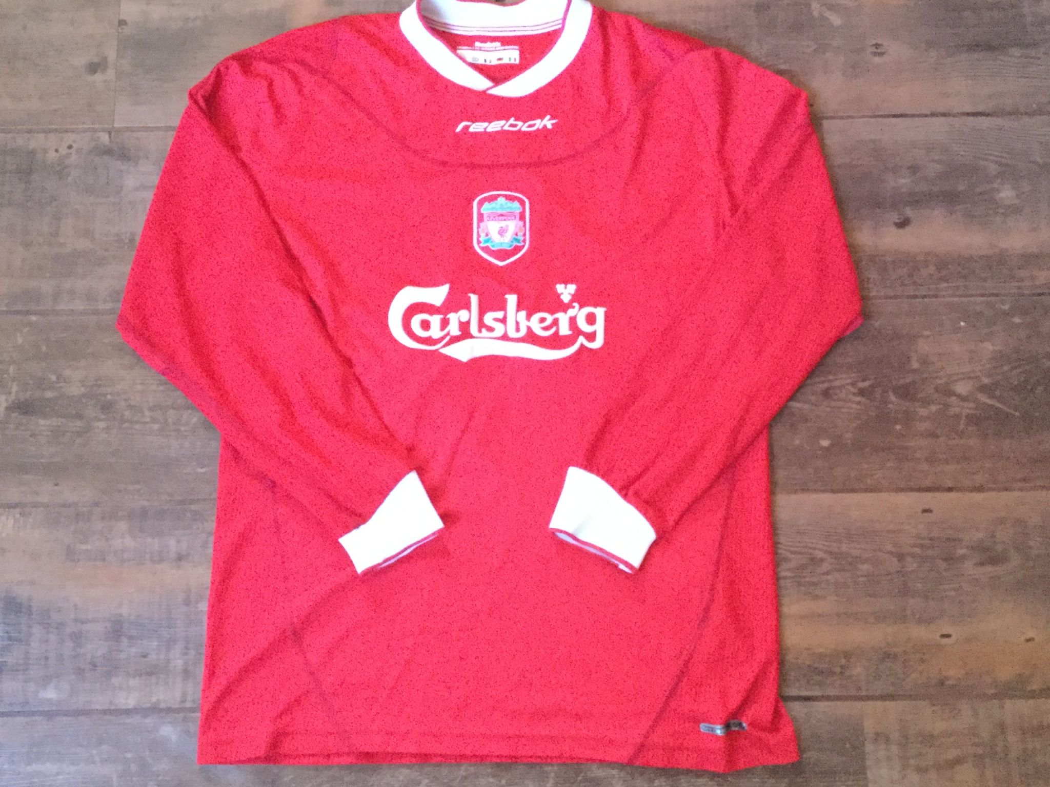 5efb28853d5 2002 2004 Liverpool L s Football Shirt Adults Medium