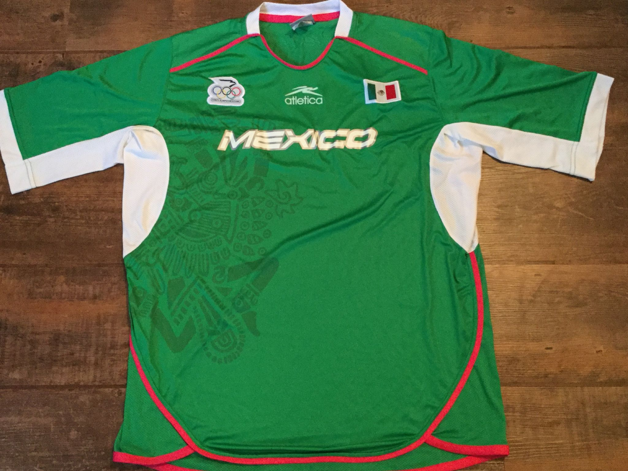 7379dce55 2004 Mexico Olympics Home Football Shirt Adults Large