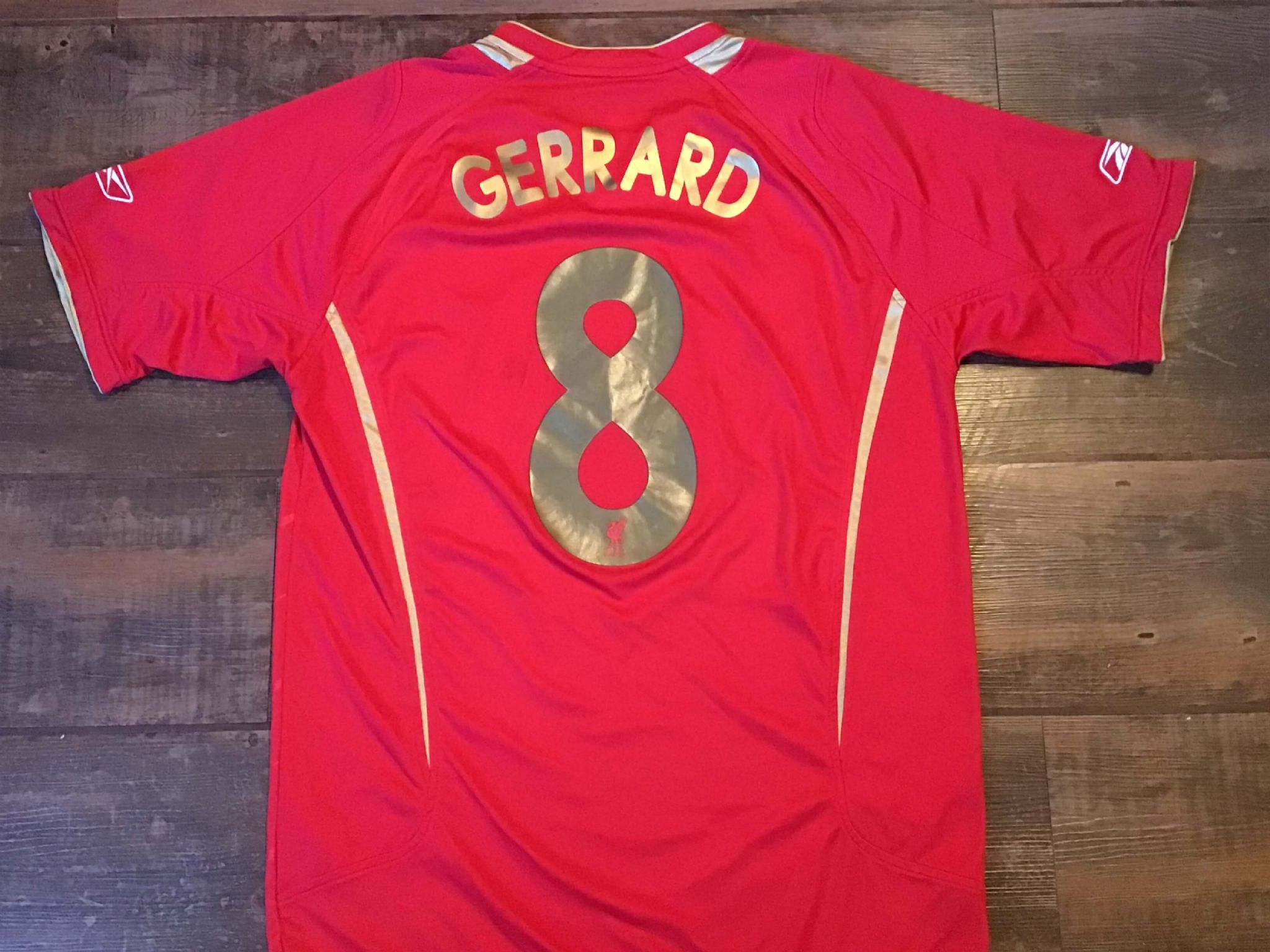 2f3e5dd7d 2005 2006 Liverpool Gerrard Home CL Football Shirt Adults Medium Jersey