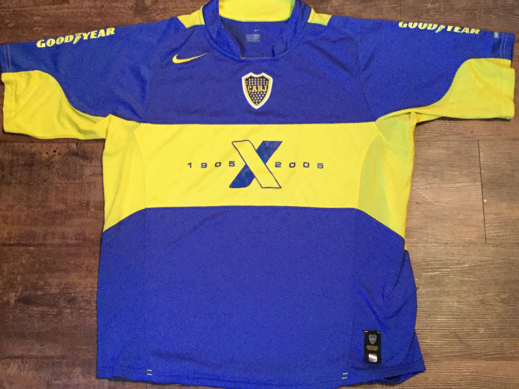watch 81fd5 79b64 Global Classic Football Shirts | 2005 Boca Juniors Vintage ...