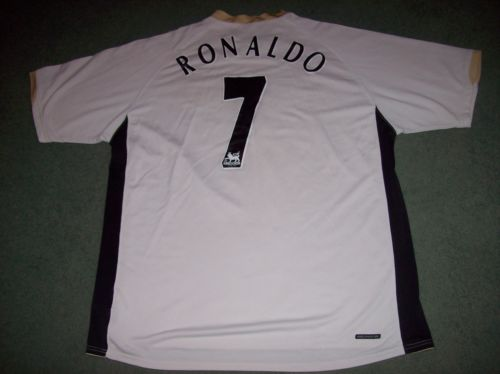 2006 2008 Manchester United CR7 Ronaldo XL Football Shirt Real Madrid Camiseta