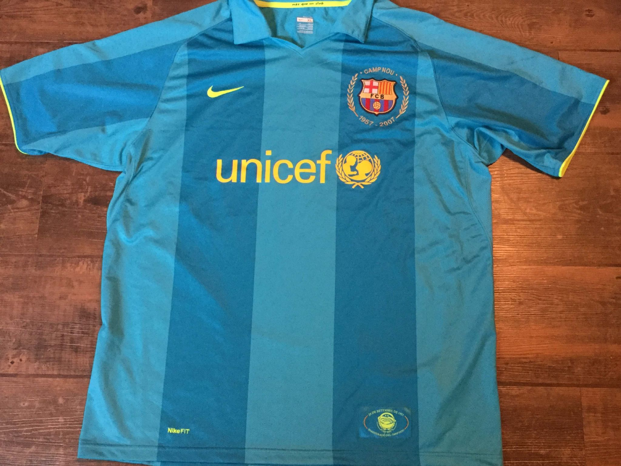 d6bee15e9 2007 2009 Barcelona Away Camp Nou Football Shirt Adults XL