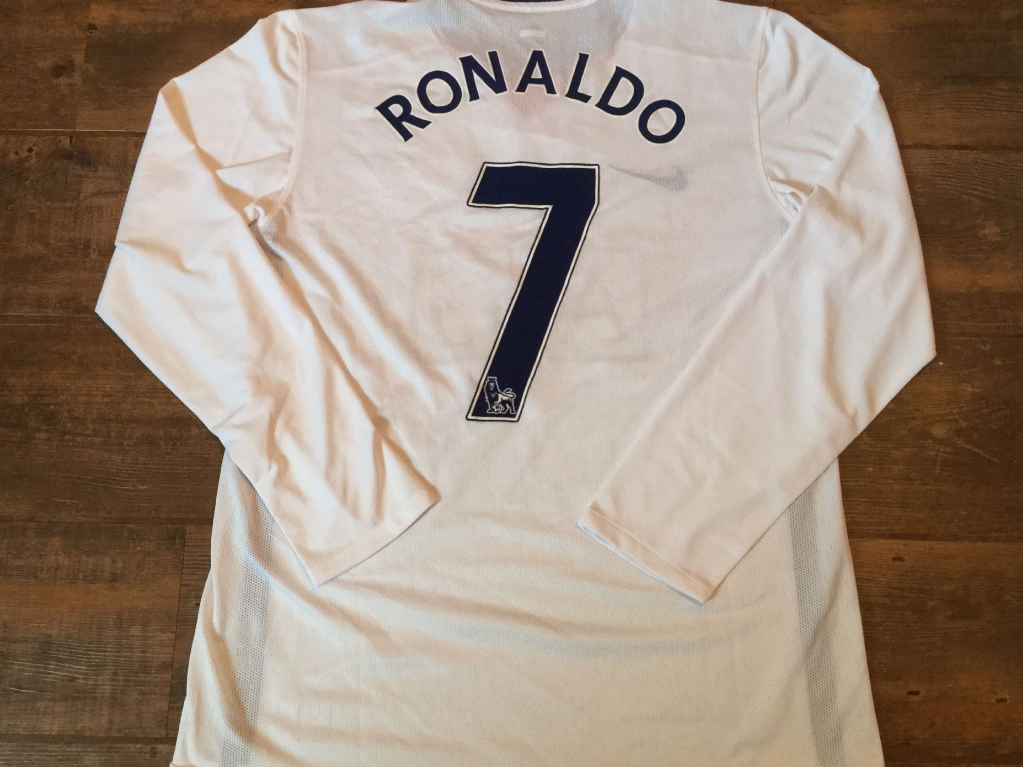66334633a 2008 2010 Manchester United L s Ronaldo Player Issue Football Shirt Adults  XL
