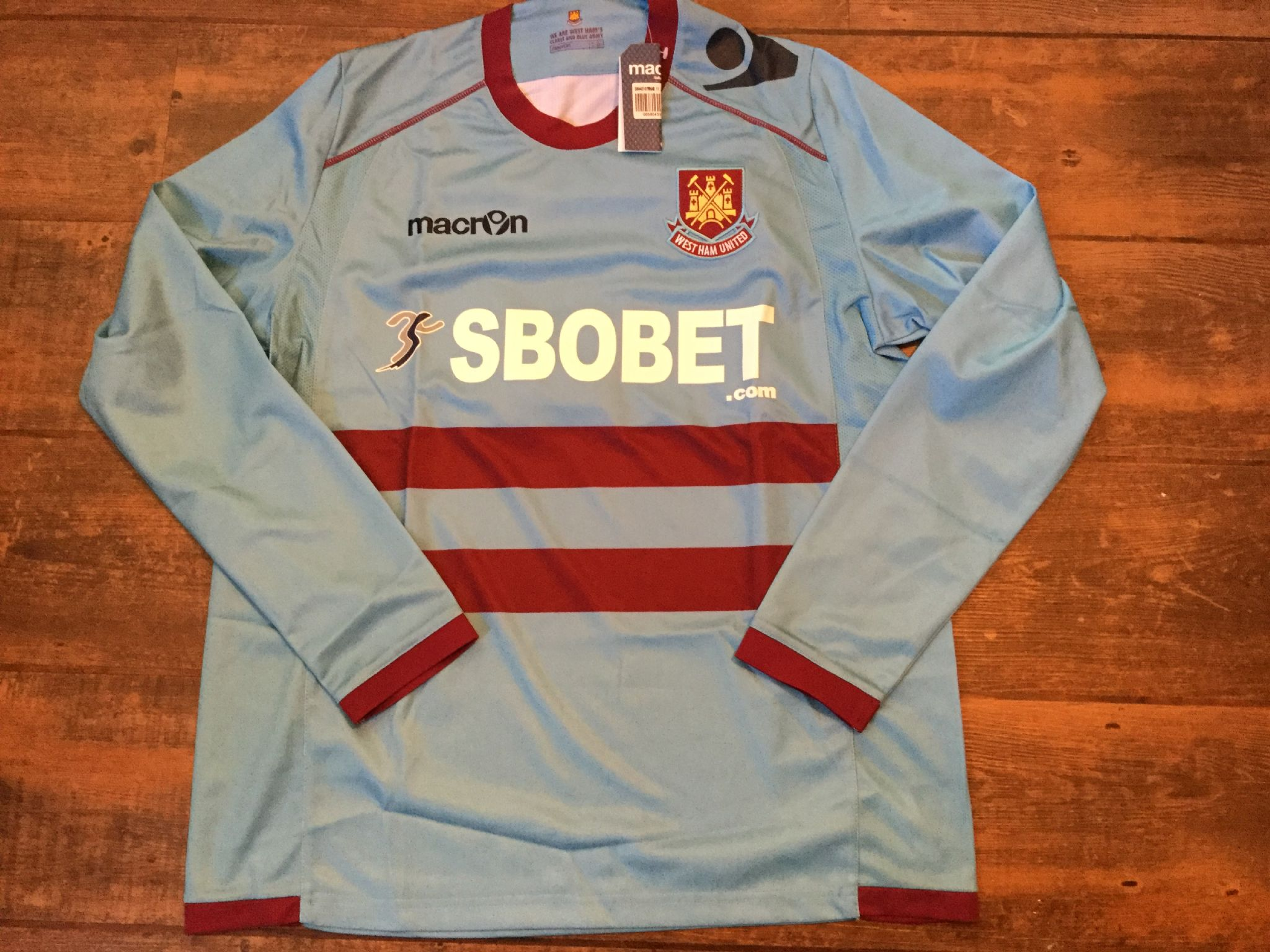 cb00be14d75 2011 2012 West Ham BNWT New L s Away Football Shirt Adults Large