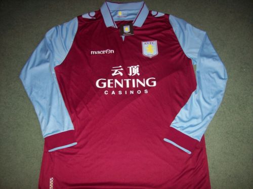 Aston Villa L/s BNWT New 2012 2013 Home 3XL Football Shirt Top