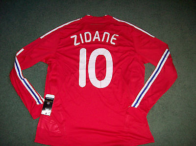France BNWT L/s Zidane Player Adidas Formotion Football Shirt Adults XL Maglia