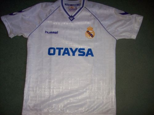Real Madrid 1991 1992 Home Football Shirt Camiseta Spain