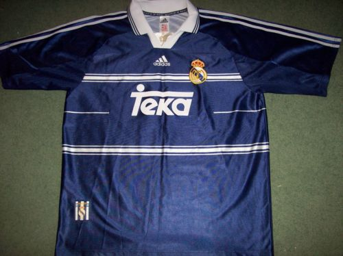 da9c176c6f3 Real Madrid 1998 1999 Adults Large Away Football Shirt Camiseta .